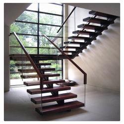 주택 실내 강철 하우스 프로젝트를 위한 직선 계단