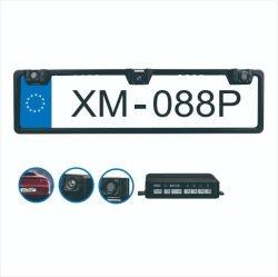EU-camera met kentekenplaat voor in de auto met parkeersensor voor video