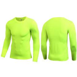 I vestiti correnti del manicotto lungo degli uomini per forma fisica corrente mette in mostra l'allenamento