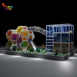 Het creatieve Spel van de Kam van de Honing van de Speelplaats van het Huis van het Spel Binnen Zachte dat voor Jonge geitjes wordt geplaatst