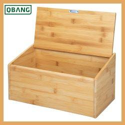 Natural Bamboo Breadbox Kitchen Bread Bin Storage