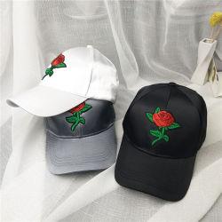 Une rose noire le long de la courbe de broderie Casquette de baseball des hommes et femmes de l'été Tide bronzage Sunbonnet Han Version de l'Hat