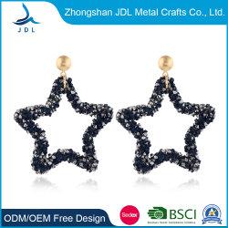 Sprankelende Vijfpuntige Ster Met Diamanten Oorbellen, Europese En Amerikaanse Geometrische Tassel-Kerstananas-Noppen, Achthoekige Ster Oorbellen (21)