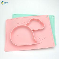 Antidérapant pour bébé/enfants/kids table Tapis de caoutchouc de la Place d'aspiration de la plaque en silicone pour les enfants pour les enfants bol