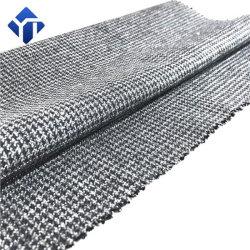 Mills de gros de polyester coton peignée Semi avec Spandex Houndstooth Veste d'hiver tissu superposées