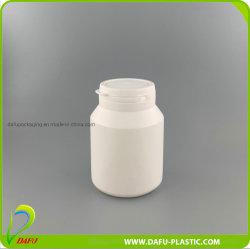 PE 150ml frasco de caramelos de pastilla de plástico con tapa de tirar el anillo
