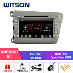 Auto-DVD-Spieler Forhonda bürgerliche 2012 LHD des Witson Vierradantriebwagen-Kern Android-9.1 CPU: AC8227L Vierradantriebwagen-Kern Arm Cortex-A7 4*1.5GHz