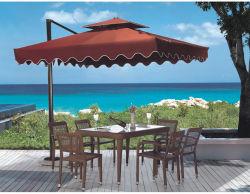 Stilvolle Garten-Möbel-preiswertes Rattan, das Set Retangle Tisch mit Stühlen speist