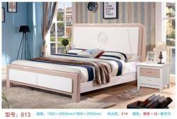 Het stevige Bed van het Hout van de Pijnboom voor het Hoogtepunt van de Volwassene en van Kinderen - het Bed van de grootte Koningin Size Bed