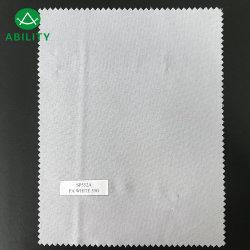 Sp552Un fabricante profesional de poliéster de color blanco liso Suave tela de forro de tejido
