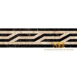 Mattonelle di marmo Waterjet del bordo del medaglione del fornitore della Cina per il pavimento vivente in villa/domestico semplici