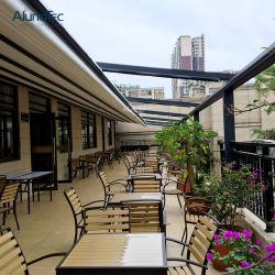 Европейский дизайн ресторана и кафе, террасы все сезоны складной Тент с боковой ветер шторки