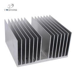 Штампованный алюминиевый радиатор экструзии профилей настраиваемые формы с ЧПУ обработки