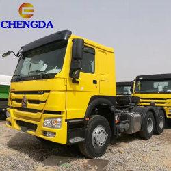 Sino HOWO VEÍCULO 6X4 utilizados 371HP 420HP10 Wheeler principal motor da cabeça do trator caminhão trator