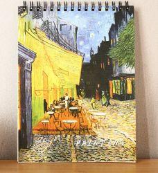 Almohadilla de boceto universal, de lado el cable atado, Sketch Book, Bloc de notas