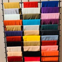 Ss20 El modelo base material mezcla de colores lisos tejidos Bufandas