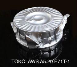 E71t-1c 유출은 알루미늄 호일 Vacuum Package를 가진 용접 전선을 응어리를 뺐다