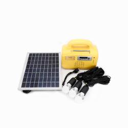 10W FM Radio/MP3/Supporting Fan Solar Home Lighting System/Kit/Light voor Nigeria Market