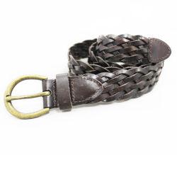 La moda Vintage colorido trenza de cuero de vaca hebilla de la cintura de la correa de malla de hombre