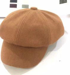 Настраиваемые вручную Vintage элегантные женские 100% шерсть плоской Широкие края считает Fedora Шляпы