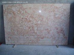 Pulido de China buena calidad losas de piedra natural Rosa Rojo/Rosa Mármol para piso interior decoración de azulejos
