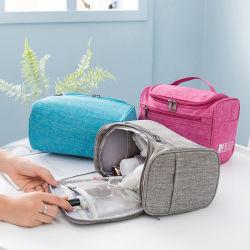 حقيبة تعليق مخصصة ماكياج التجميل زيبر حقيبة السفر المحمولة جراب التجميل حقيبة