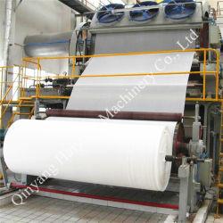 화장지 (1880mm)를 만들기 위하여 기계를 재생하는 폐지