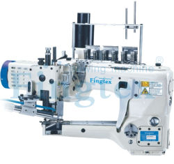 Alimentación Fingtex brazo fuera de las agujas de 4 hilos 6 máquina de coser de bloqueo Flat-Seamer