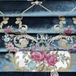 De uitstekende kwaliteit sneed Stof van de Stoffering van Rotana van het Fluweel de Borduurwerk Geweven Textiel voor het Gordijn van de Bank van het Meubilair