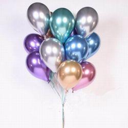 1set 50pcs 5/10pulgadas Nuevo metálico cromado metálico globos de látex globos inflables globos de helio globos decoracion fiesta de cumpleaños