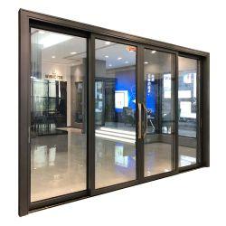 خارج أبواب مدخل ألومنيوم الباب الخارجي التجارية الحديثة مطعم الزجاج منزلق أبواب المدخل