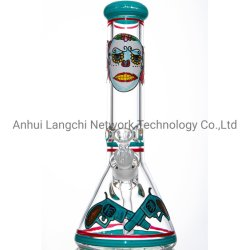 Tubo di vetro di fumo di vetro della coppa degli accessori del tubo di fumo di acqua del ritratto della Rosa del tubo del narghilé di vetro di Shisha