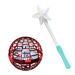 Giocattoli Tricked-out di natale del filatore di volo del PRO filatore del boomerang di Flynova con la bacchetta magica con il presente della sfera