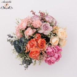 Fleur artificielle de la décoration de mariage de fleurs en soie Décoration d'accueil de la Direction générale Pivoine