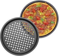 Non Stick 탄소강 둥근 모양 베이킹 피자 팬 베이킹 오븐 피자 트레이 시트 팬