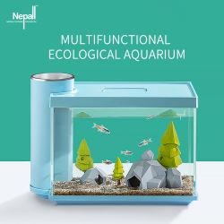 Yee agua hierba Acuario Escritorio pequeño tanque de peces ecológicos