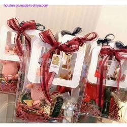 Ins transparante PVC-handtas Bruiloft Candy met hand Gift Plastic Cadeauzak Bloemcosmetica Verpakkingszak