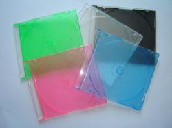 Caja de CD CD Box CD Cover de 5,2 mm Silm cuadrado con bandeja de Color Precio más barato de buena calidad