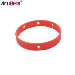 Cinturino da polso personalizzato in silicone con logo stampato, non minimo