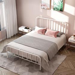 Lussuoso letto d'epoca in ferro battuto in stile europeo Oro spazzolato con letto king size