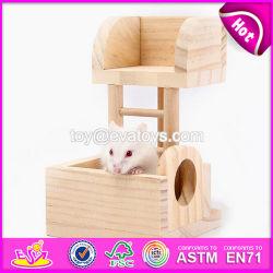 Nuevos productos para interiores gracioso de animales pequeños de madera juguete progresiva de la escalera de Pet W06F027