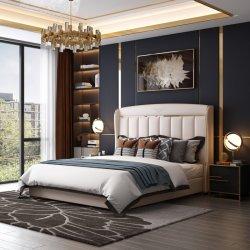 غرفة إيطالية حديثة فاخرة بسرير كينج خشبي مزدوج كبير مجموعة أثاث غرفة النوم