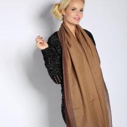 Seide einfarbig Sdesign mit Saum Jacquard Schal Damen lange Schal