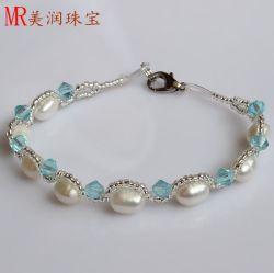 100% Genuine d'eau douce Bracelet perles Bijoux pour cadeau de Noël