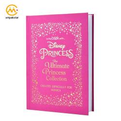 Af:drukken van het Boek van het Verhaal van het Sprookje van de Prinses van de Kinderen van Hardcover van de douane het Roze met Gouden Heet het Stempelen Embleem