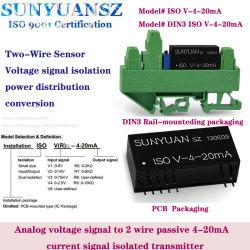 Segnale del sensore di pressione passivo DA 0-5V/0-10V a 4-20 ma montato su guida DIN3 Acquisizione e distribuzione dell'alimentazione
