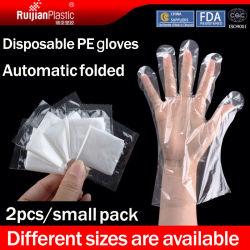 Cada Pack guantes desechables de PE de la industria alimentaria guantes de protección de limpieza