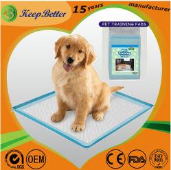 Pet Manufacturr usine OEM d'alimentation de l'incontinence jetables chien intérieur/extérieur/chiot/cats pipi/Piddle/Wee Wee/d'urine et les toilettes des électrodes de formation sanitaire/tapis de lit