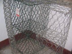 Cage de treillis métallique de gabions en acier galvanisé avec forme hexagonale