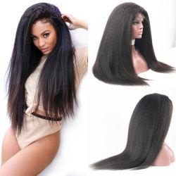 ねじれた直毛の粗いYakiのブラジルの人間の毛髪のかつら